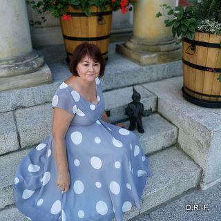 Suknia w grochy
